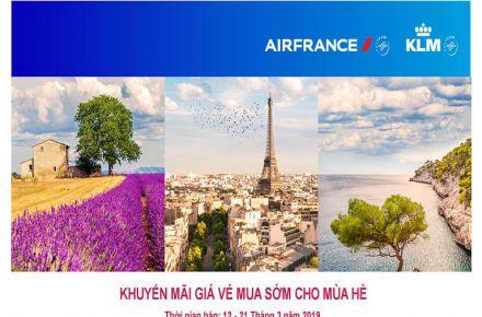 Air France khuyến mãi mùa hè